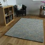Duck Egg Blue Trelis Wool Rugs – Athena – 160 x 230cm (5ft 3 x 7ft 6 )