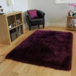 Grape Thick Shaggy Rug – Glamour 120cm x 170cm (3'11 x 5'7 )