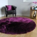 Grape Thick Shaggy Rug – Glamour 150x150cm