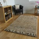 Brown Beige Modern Wool Rug – Valencia – 120x170cm (4ft x 5 ft6 )