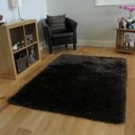 Dark Brown Soft Long Pile Rugs- Memphis 80×150