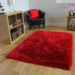 Rich Red High Quality Soft Shaggy Rug- Memphis 80×150