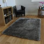 Silver Grey Shimmer Non Shed Soft Shag Pile Rug – Memphis Grey FF