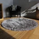 Silver Grey Shimmer Non Shed Soft Shag Pile Rug – Memphis Grey FF 180