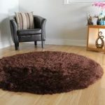 Chocolate Brown High Quality Glossy Faux Sheepskin Rug – Deluxe Brown