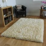 Luxuriously Soft Ivory Faux Fur Cheap Sheepskin Style Rug- Deluxe