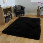 High Quality Black Super Soft Extra Thick Pile Faux Fur Rug – Deluxe