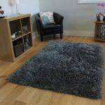 Superior Quality Soft Grey Fluffy Faux Sheepskin Modern Rug – Deluxe