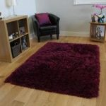 Rich Plum Extra Soft Faux Fur Thick Shaggy Rug- Deluxe Plum FF 80×150
