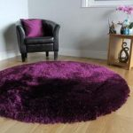 Rich Plum Extra Soft Faux Fur Thick Shaggy Rug- Deluxe Plum FF 133cm