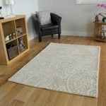 Beige Modern Carved Wool Rug – Essence – 120x170cm (4ft x 5 ft6 )