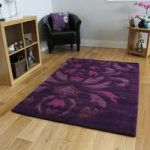 New Rich Purple Plum Anti Shed Soft Acrylic Rug Bilbao 160x220cm