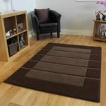 Contempo Plain Brown Soft Modern Rug 140×200