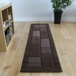 Chocolate Brown Embossed Simple Modern Rug – Contempo 60×110