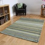 High Quality Thick Lined Soft Green Wool Mix Rug Cavoni 80x150cm