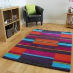 Kingston Colourful Pink, Orange & Purple Soft Wool Rugs – 90x150cm