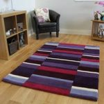Kingston Purple, Lilac & Pink Large Quality Thick Wool Rugs –