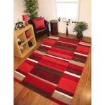 Kingston Rich Red, Burgundy & Brown Hand Tufted Thick Wool Rugs –