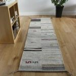 Modern Brown Beige Tribal Wool Rug – Mensa – 68cmx235cm(2ft3 x7ft9 )