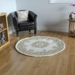 Traditional Cream & Beige Wool Rug – Riga – 120cm (4ft)
