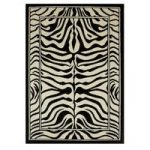Shiraz Black & White Zebra Animal Rug 4500-B41 – 240cm x 330cm (7ft 10
