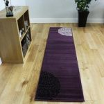 Shiraz Purple & Black Modern Motif Rug 1366-H33 – 60cm x 240cm (2ft x