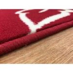 Shiraz Red Cream Floral Modern Rug 1347-R55 – 80cm x 320cm