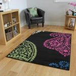 Milan Black Cerise Lime Paisley Patterned Rug – 1639-U11 160 cm x 230