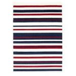 Milan Cream Navy Red Stripe Area Rug – 1114-X44 60cm x 240cm (2ft x
