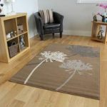 Milan Beige Grey Contemporary Flower Print Rug – 1642-N33 80 cm x 150