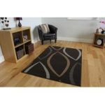 Milan Leaf Brown Modern Rugs – 160 cm x 230 cm (5'3 x 7'7 )