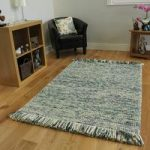 Teal Turquoise Modern Wool Rug – Valencia – 80x150cm (2ft 6 x 5ft)