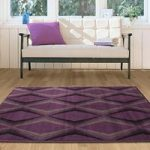 Milan Symmetric Purple Modern Rugs – 60cmx240cm (2ft x 7ft 10 )
