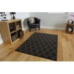 Milan Trellis Brown Modern Rugs – 60cmx240cm (2ft x 7ft 10 )