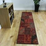 Milan Wine Red Traditional Squares Rug – 1572-S52 80 cm x 150 cm (2'6