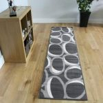 Milan Bubbles Grey Modern Rugs – 60cmx240cm (2ft x 7ft 10 )