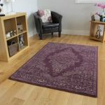Milan Classic Purple Traditional Rugs – 80 cm x 150 cm (2'6 x 5'0 )