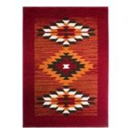 Milan Red Burnt Orange Tribal Aztec Rug – 1632-S55 120 cm x 170 cm (4′