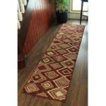 Diamonds Terracotta Modern Rugs – 60cmx240cm (2ft x 7ft 10 )