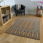 Classic Quality Gold Soft Stylist Design Rug – Kensington 70cm x 140cm