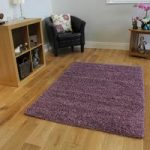 Luxury Non Shed Mauve Shaggy Lounge Rug – Ontario 110 cm x 160 cm