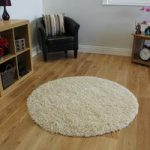 Luxury Quality Dense Soft Cream Shaggy Lounge Rug – Ontario 120cm