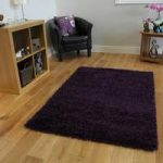 Luxury Soft Touch Purple Aubergine Shaggy Rug – Ontario 110 cm x 160