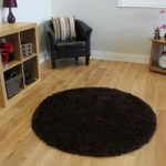 Luxury Warm Super Soft Plain Brown Shaggy Rug – Ontario 120cm (3ft11 )