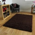Luxury Warm Super Soft Plain Brown Shaggy Rug – Ontario 80 cm x 150 cm