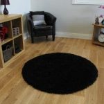 Luxurious Ultra Chic Black Anti Shed Shag Pile Rug – Ontario 120cm