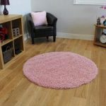 Thick Super Soft Baby Pink Shag Pile Rug – Ontario 120cm (3ft11 )