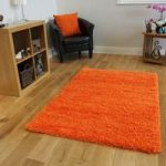 Quality Non Shed Orange Soft Chunky Shaggy Rug – Ontario 60×110 (2ft x