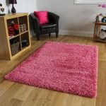 Ultra Soft Non Shed Pink Barbie Shag Pile Rug – Ontario 80 cm x 150 cm