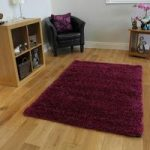 High End Plain Cerise Durable Thick Shaggy Rug – Ontario 110 cm x 160